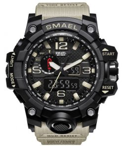 Rugged Sports Watches for Men with Digital and Analogue Display - AwesomeGraphix.com - T-Shirts, Caps, Mugs, Baby Onesies, Wall Art and more!