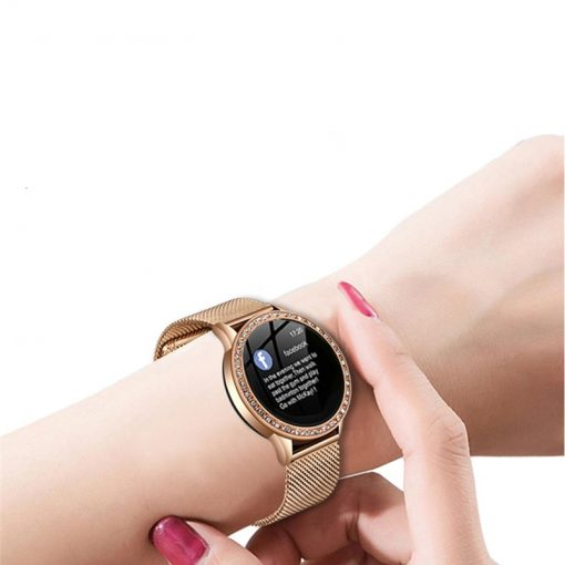 Women's Elegant Smart Watch Decorated with Stones - AwesomeGraphix.com - T-Shirts, Caps, Mugs, Baby Onesies, Wall Art and more!