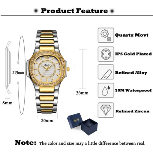 Women's Watch with Diamonds - AwesomeGraphix.com - T-Shirts, Caps, Mugs, Baby Onesies, Wall Art and more!