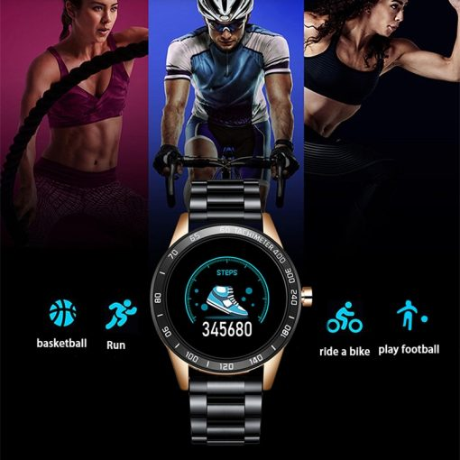 Men's Stainless Steel Smart Watch - AwesomeGraphix.com - T-Shirts, Caps, Mugs, Baby Onesies, Wall Art and more!