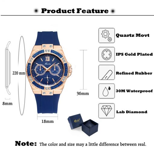 Analog Women's Watch with Chronograph - AwesomeGraphix.com - T-Shirts, Caps, Mugs, Baby Onesies, Wall Art and more!