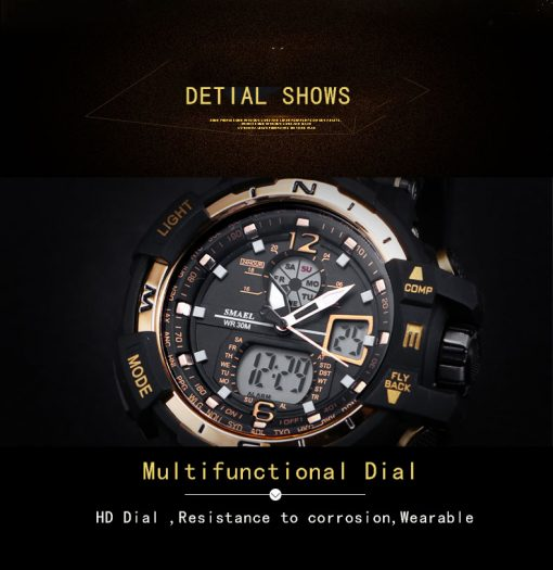 Digital Quartz Sports Watches With Dual Display for Men - AwesomeGraphix.com - T-Shirts, Caps, Mugs, Baby Onesies, Wall Art and more!