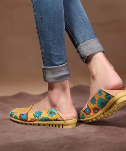 Cute Summer Casual Leather Women's Flat Shoes - AwesomeGraphix.com - T-Shirts, Caps, Mugs, Baby Onesies, Wall Art and more!