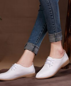 Fashion Summer Casual Leather Women's Flat Shoes - AwesomeGraphix.com - T-Shirts, Caps, Mugs, Baby Onesies, Wall Art and more!