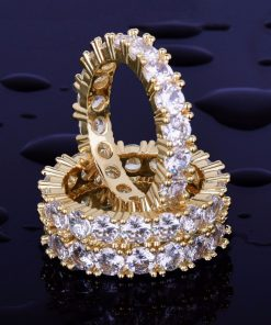 Men's Luxury Crystal Ring - AwesomeGraphix.com - T-Shirts, Caps, Mugs, Baby Onesies, Wall Art and more!