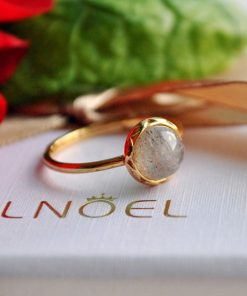 Women's Sterling Silver Ring with Labradorite Gemstone - AwesomeGraphix.com - T-Shirts, Caps, Mugs, Baby Onesies, Wall Art and more!
