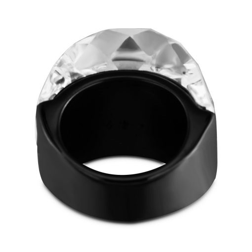 Maxi Black / Clear Crystal Ring for Women - AwesomeGraphix.com - T-Shirts, Caps, Mugs, Baby Onesies, Wall Art and more!