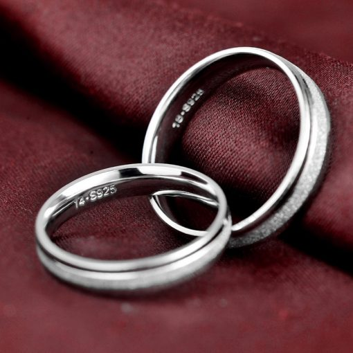 Men / Women's Minimalist Silver Weddings Rings - AwesomeGraphix.com - T-Shirts, Caps, Mugs, Baby Onesies, Wall Art and more!