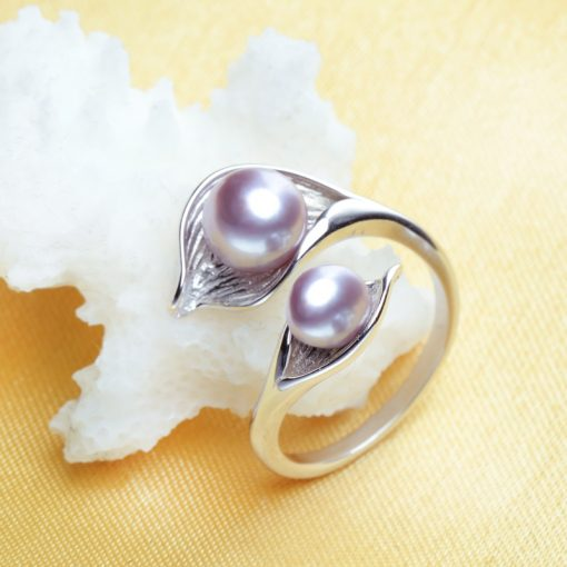 Silver Double Pearl Ring - AwesomeGraphix.com - T-Shirts, Caps, Mugs, Baby Onesies, Wall Art and more!