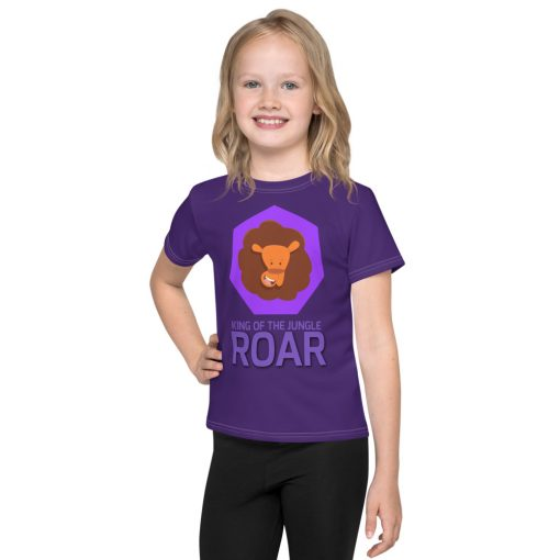 King of the Jungle Lion Face - Kids T-Shirt - AwesomeGraphix.com - T-Shirts, Caps, Mugs, Baby Onesies, Wall Art and more!