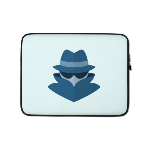 Hacker Incognito - Laptop Sleeve - AwesomeGraphix.com - T-Shirts, Caps, Mugs, Baby Onesies, Wall Art and more!