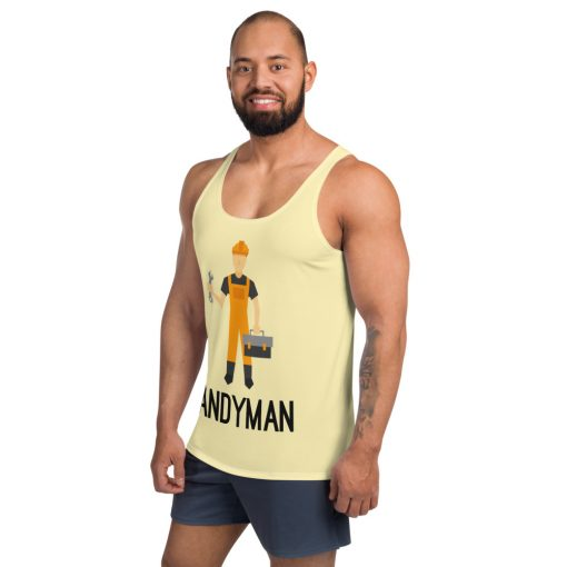 Handyman with a tool - Men's Tank Top - AwesomeGraphix.com - T-Shirts, Caps, Mugs, Baby Onesies, Wall Art and more!