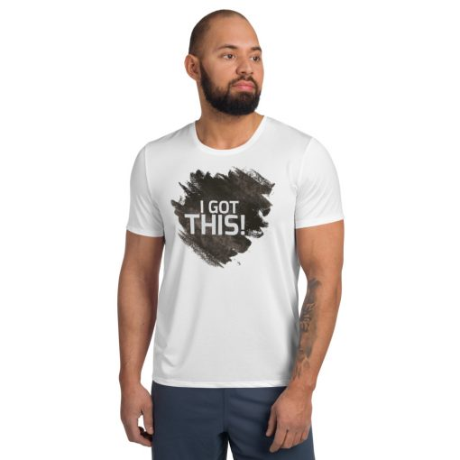 I got this - White Athletic T-shirt with black shading - AwesomeGraphix.com - T-Shirts, Caps, Mugs, Baby Onesies, Wall Art and more!