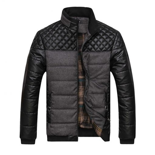 Trendy Winter Casual Padded Men's Jacket - AwesomeGraphix.com - T-Shirts, Caps, Mugs, Baby Onesies, Wall Art and more!