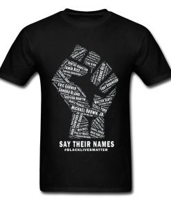 Men's Black Lives Matter Fist Printed T-Shirt - AwesomeGraphix.com - T-Shirts, Caps, Mugs, Baby Onesies, Wall Art and more!