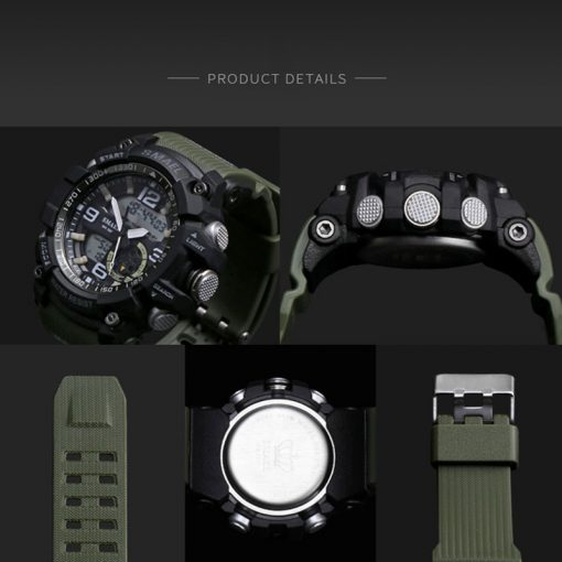 Elegant Sports Watches With Dual Display for Men - AwesomeGraphix.com - T-Shirts, Caps, Mugs, Baby Onesies, Wall Art and more!