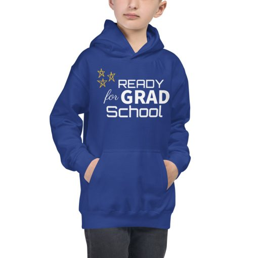 Ready For Grad School - Stars - Kids Hoodie - AwesomeGraphix.com - T-Shirts, Caps, Mugs, Baby Onesies, Wall Art and more!