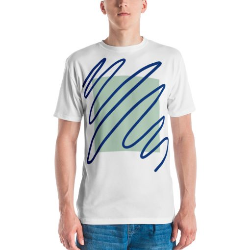 Plain Scribble Men's White T-shirt - AwesomeGraphix.com - T-Shirts, Caps, Mugs, Baby Onesies, Wall Art and more!