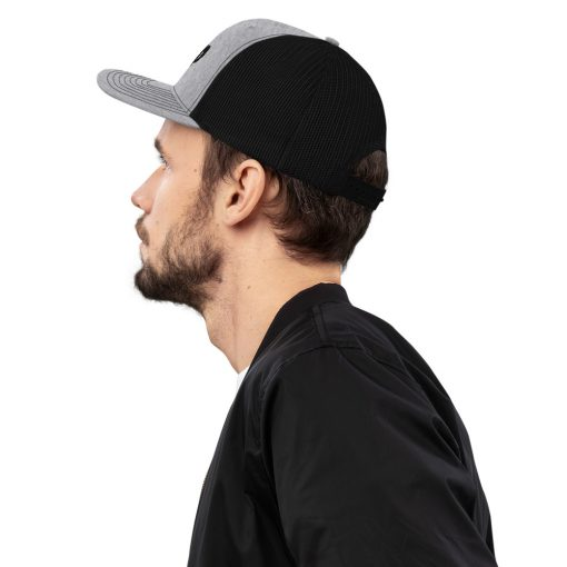 Champ Embroidered Gray and Black Trucker Cap - AwesomeGraphix.com - T-Shirts, Caps, Mugs, Baby Onesies, Wall Art and more!
