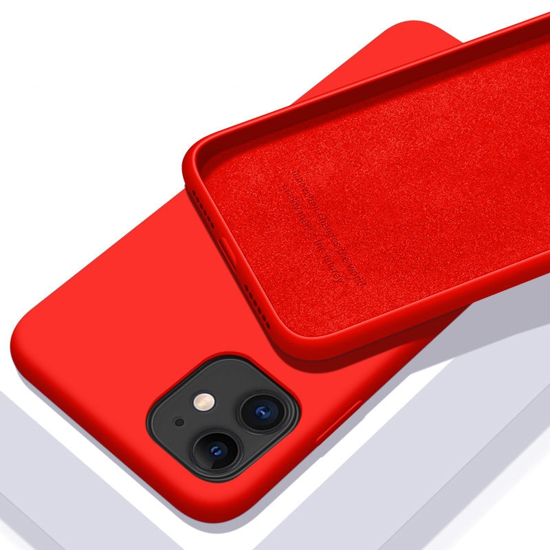 Solid Color Soft Silicone Case for iPhone