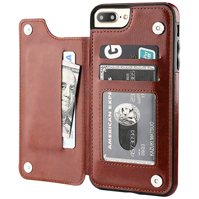 Colorful Flip Wallet Case for iPhone