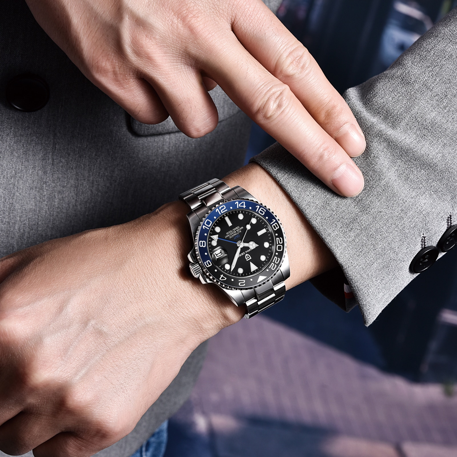 Men's Automatic Mechanical Stainless Steel Watch