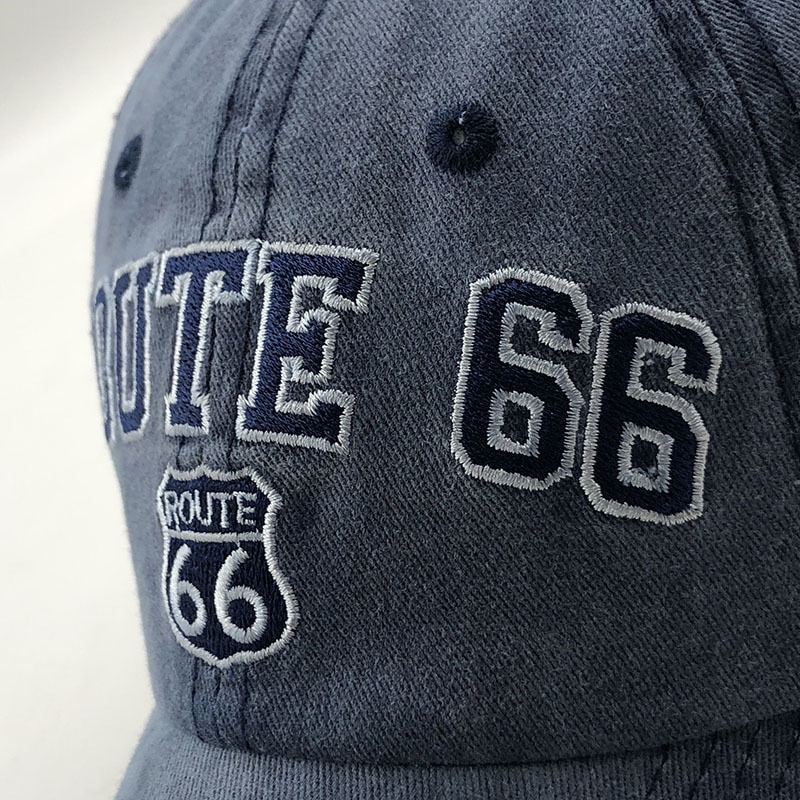Unisex Route 66 Embroidered Baseball Cap