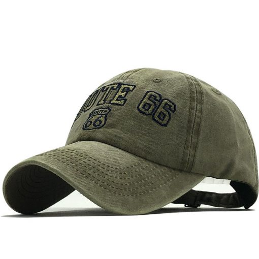 Unisex Route 66 Embroidered Baseball Cap - AwesomeGraphix.com - T-Shirts, Caps, Mugs, Baby Onesies, Wall Art and more!